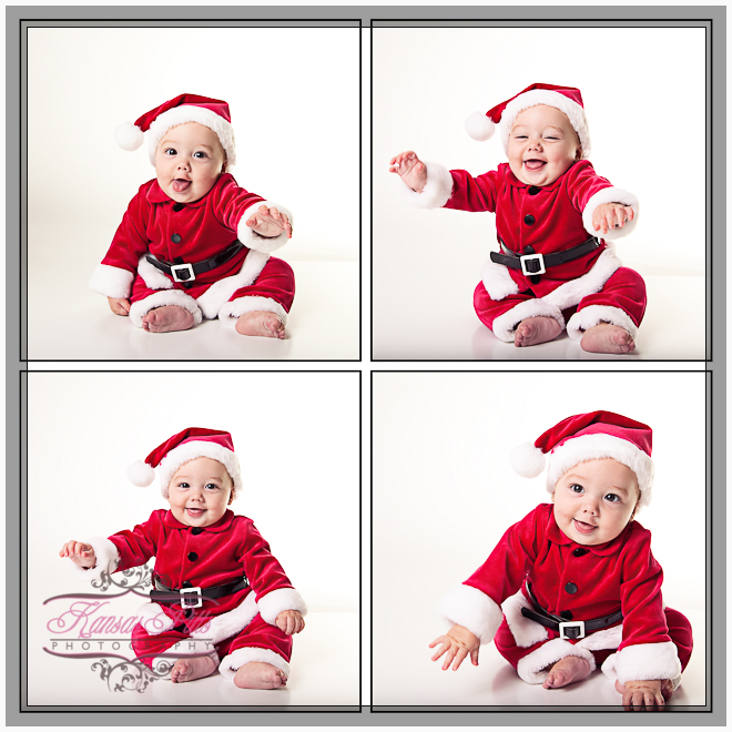 Baby Santa Claus My First Christmas Portraits