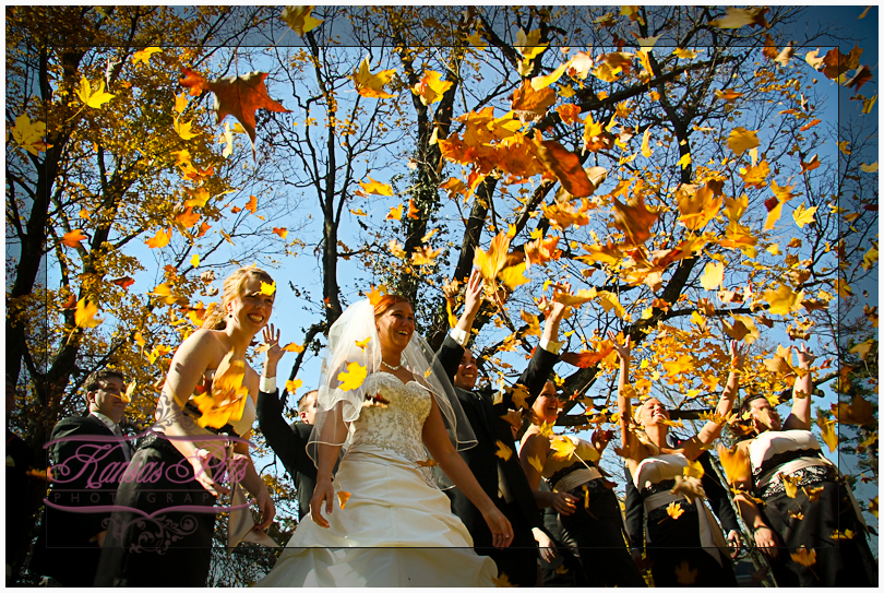 fall themed wedding photography