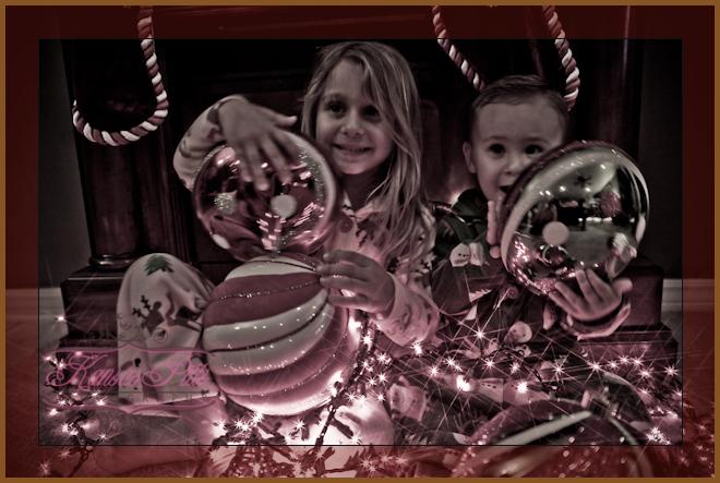 Christmas lights portraits