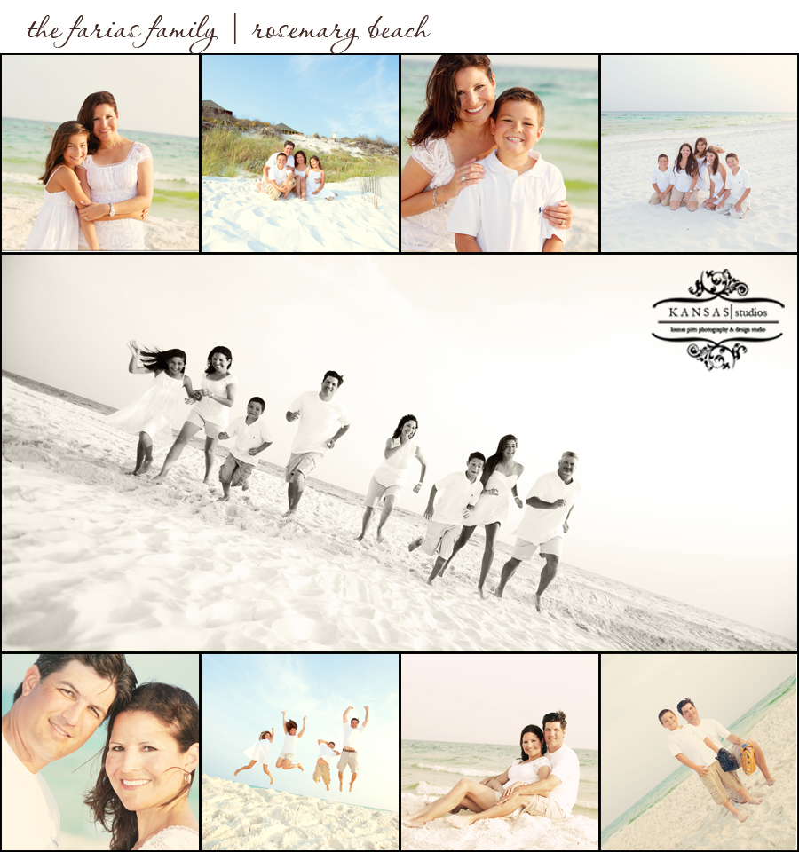 the farias family | rosemary beach family beach session