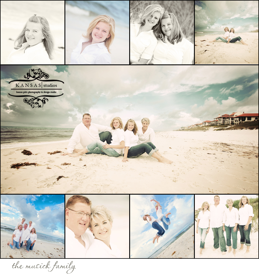 the musick family | the palms on 30-a, dune allen beach portraits
