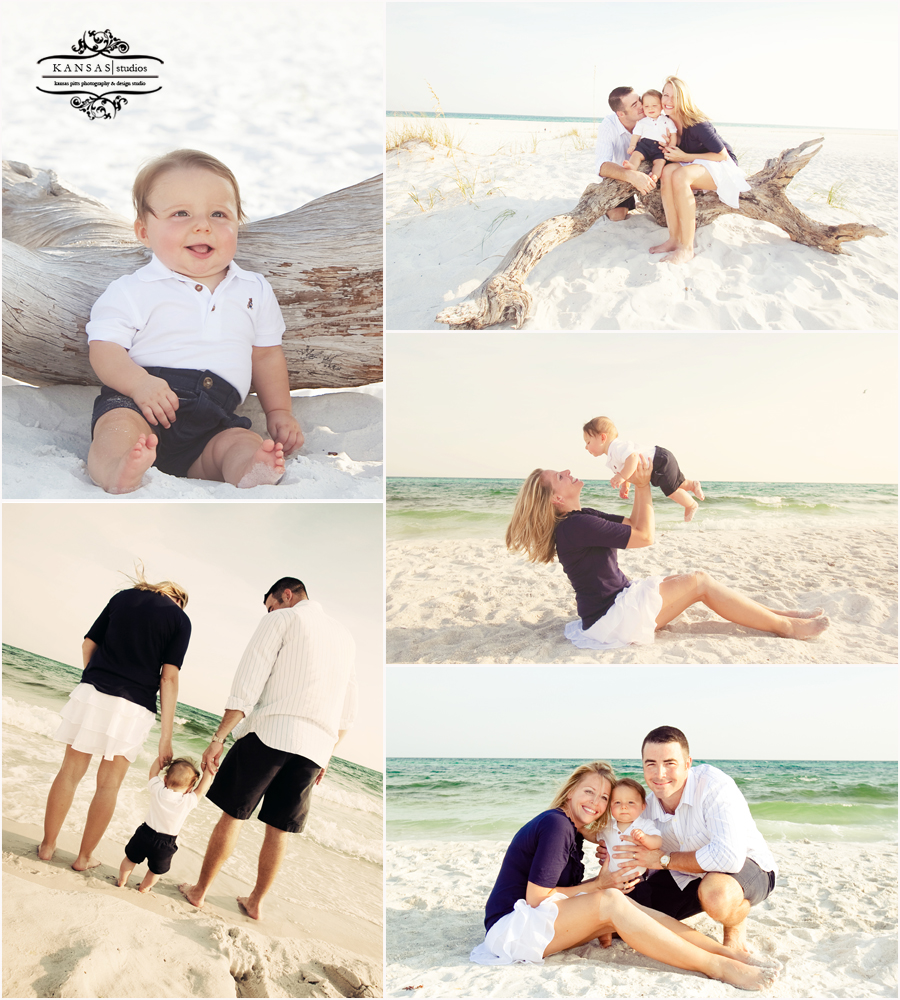 family beach portraits on okaloosa island