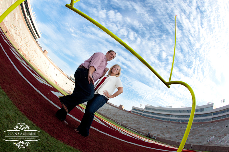 Engagement Session at Doak Campbell Stadium, engagement session at Wescott Fountain, Engagement Session in Tallahassee, Engagement at Florida State University