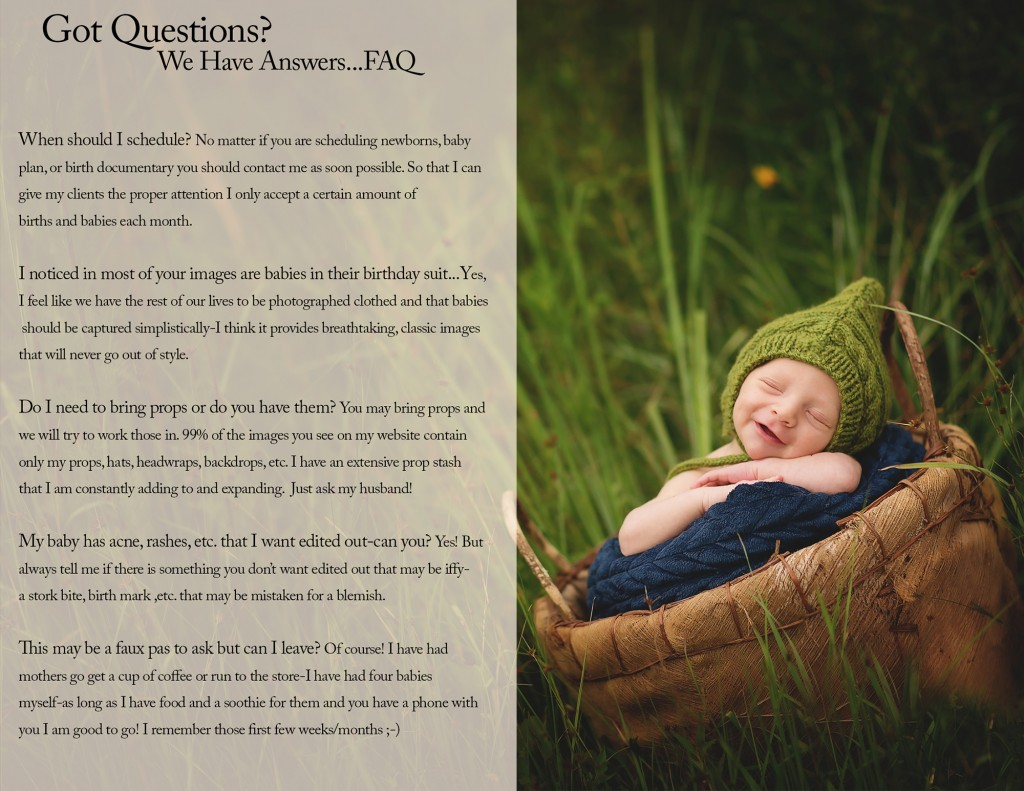 FAQ Newborn Photography by Kansas Pitts