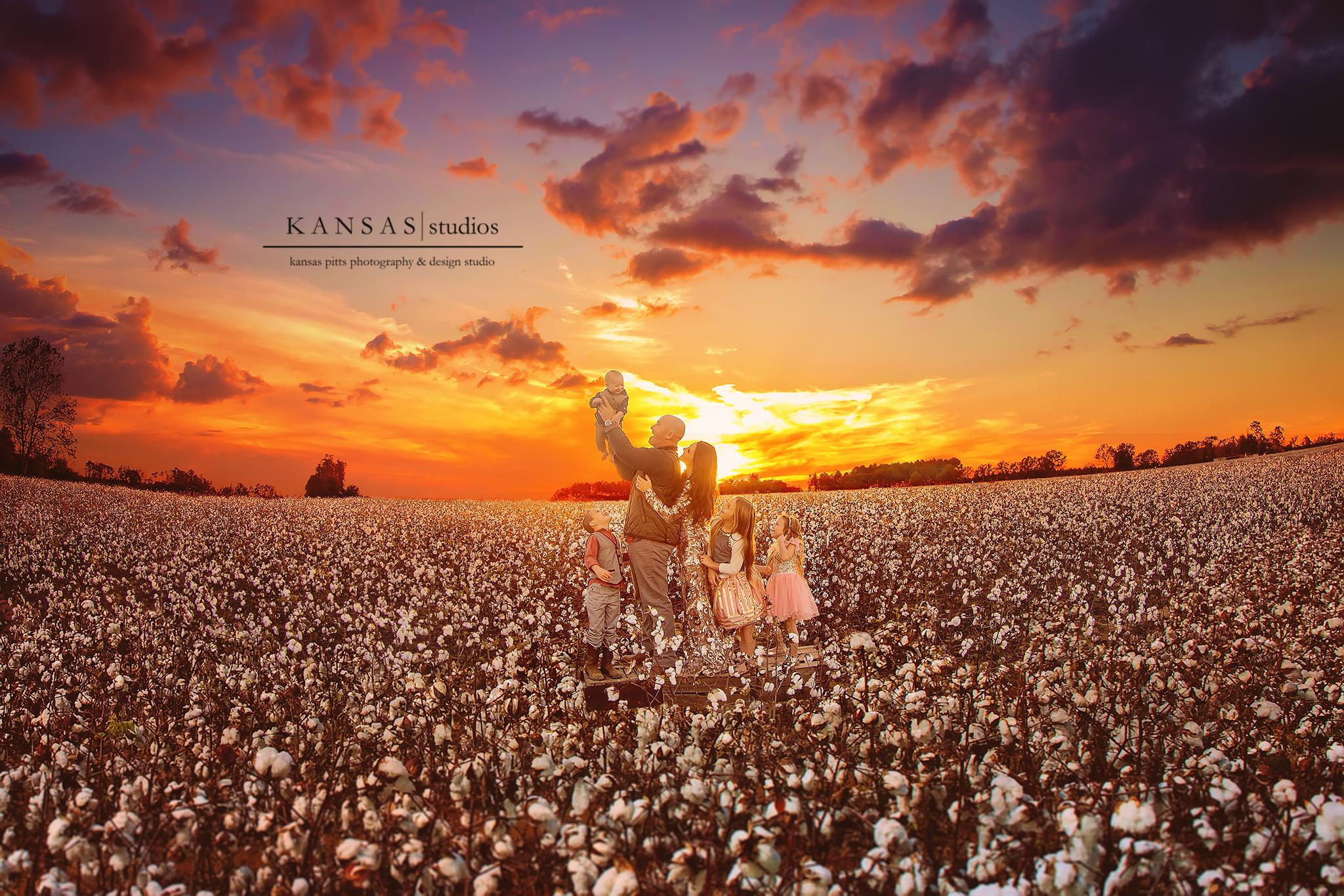 cotton fields on fire