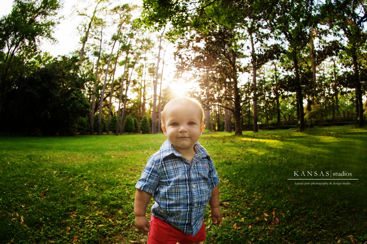 Eden State Garden 1 year Old Baby Session
