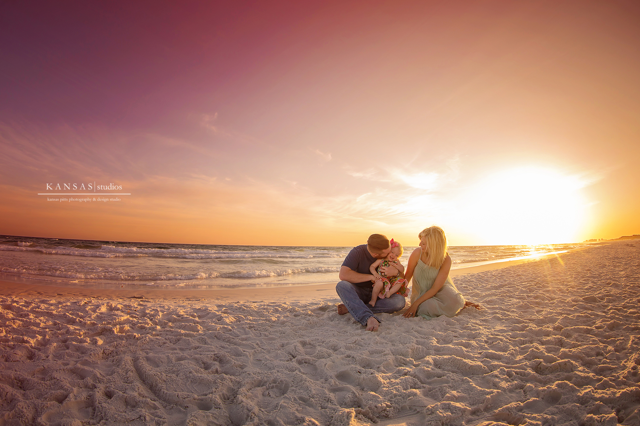 The weatherup family a gorgeous south walton sunset beach session