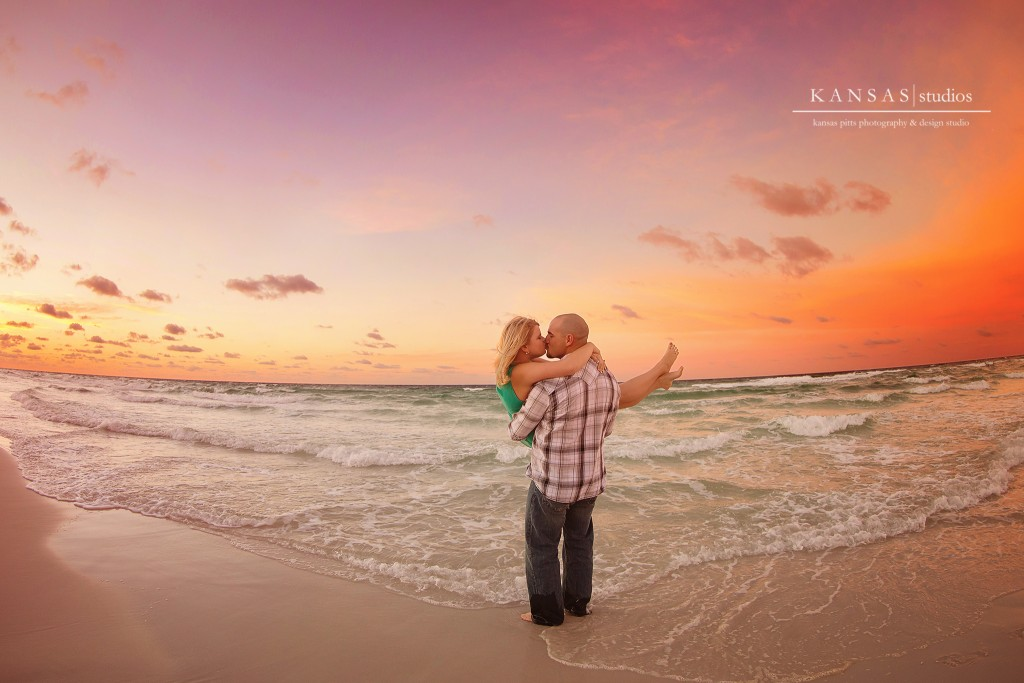 heather and eric | a sunrise engagement session at the beach