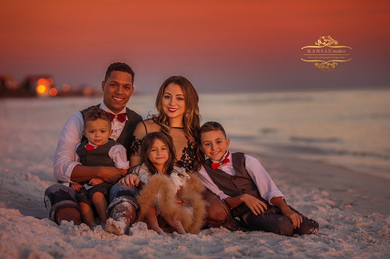 formal family beach pictures