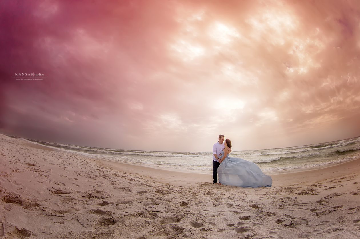 Couple Beach Maternity Session