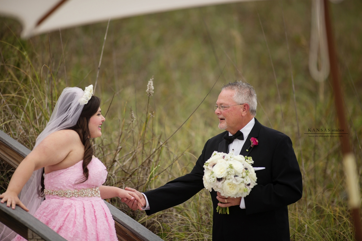 Pink Hi Lo Wedding Dress
