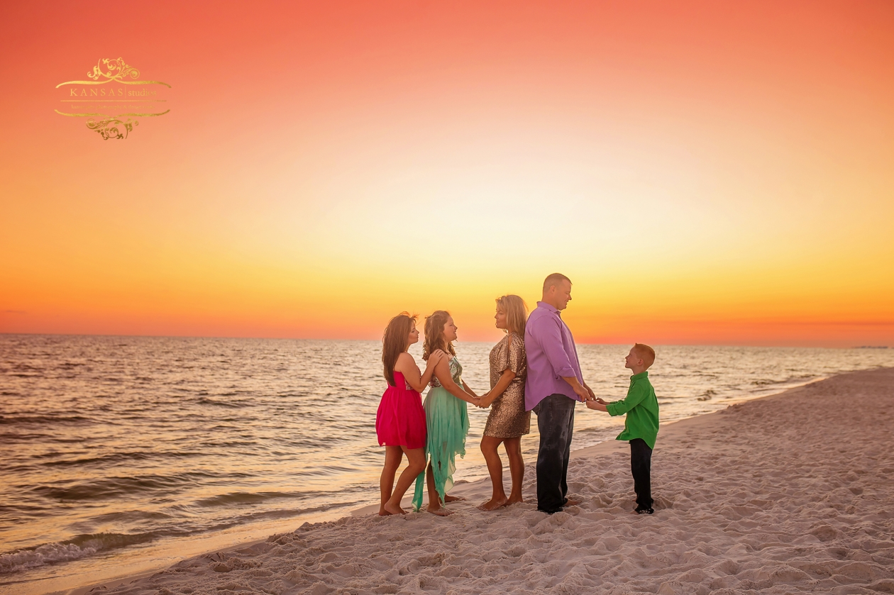 Sequins and Color on the Beach Family Beach Session