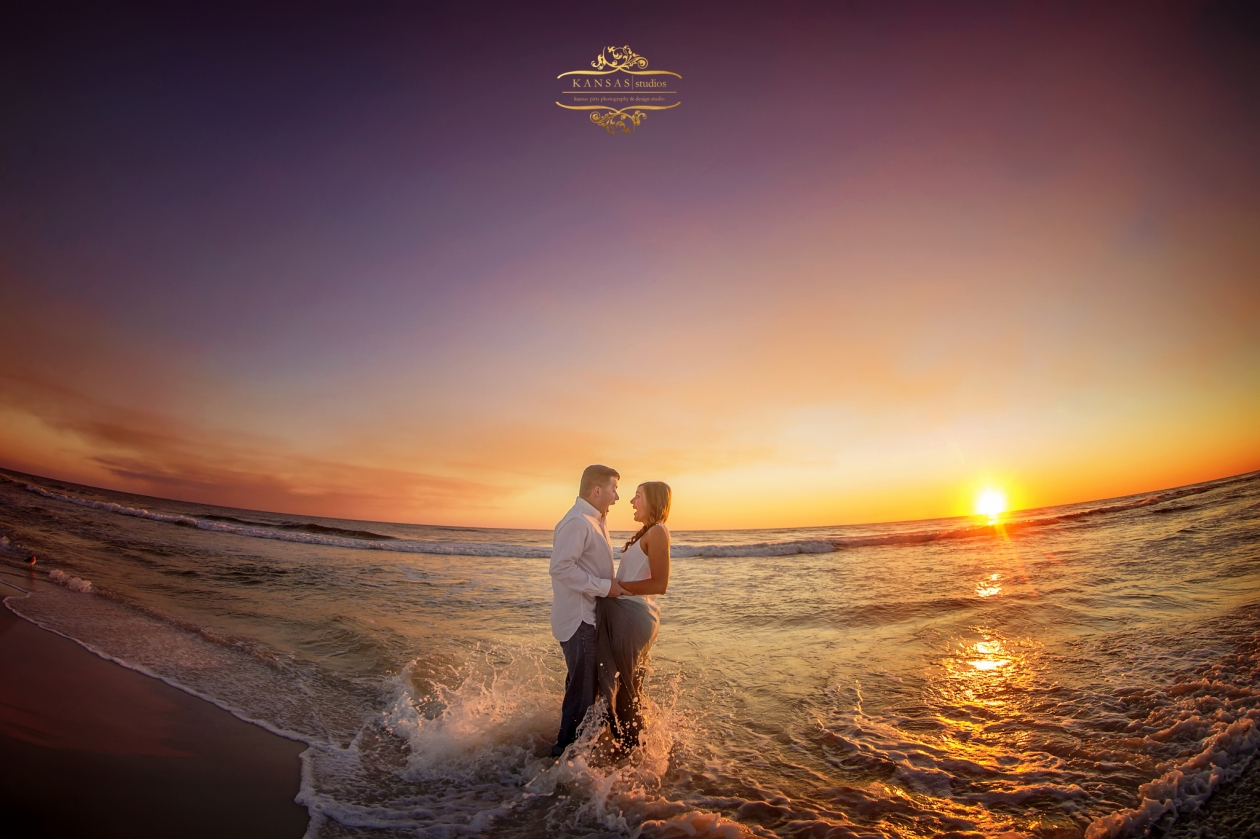 Winter Beach Engagement Session