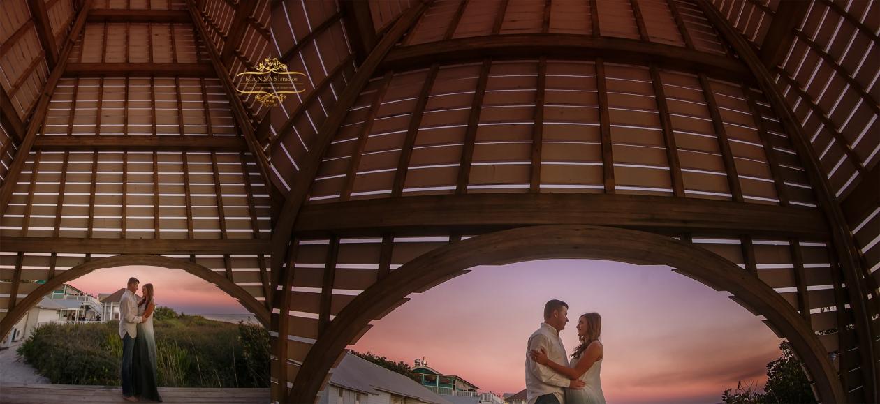Seaside Pavilion Engagement
