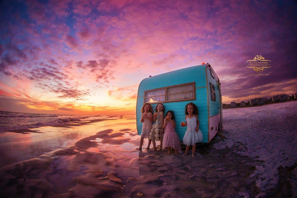 sunset camping styled photographer in grayton beach