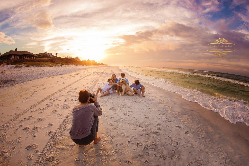 family beach workshop