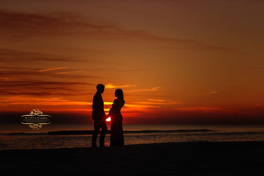 grayton beach maternity silhouette