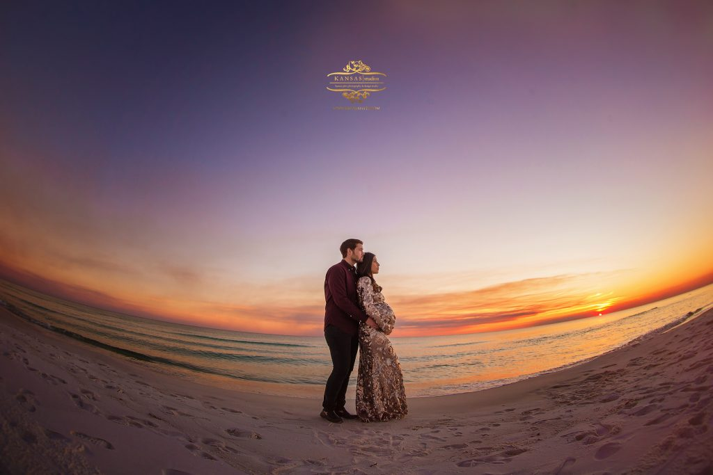 south walton maternity photographer at sunset