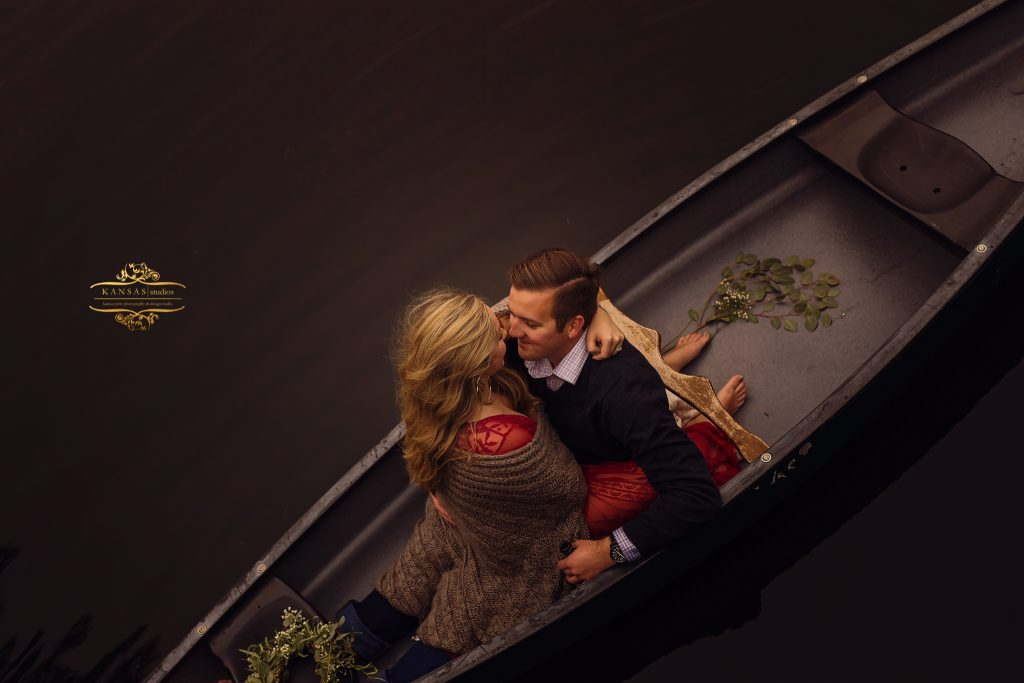 Styled Engagement session on the lake