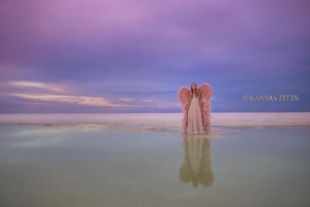 angel wings on the beach